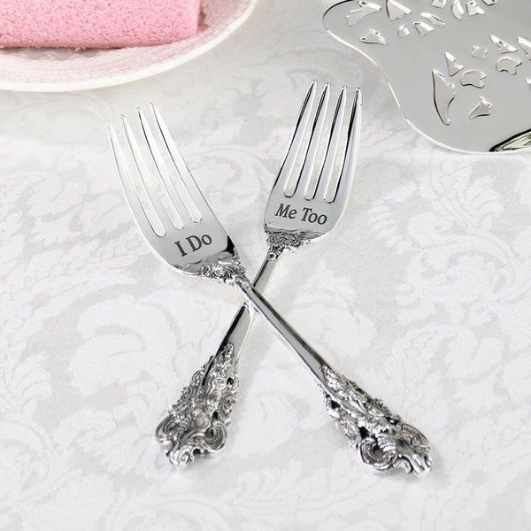 2 Forks - I Do & Me Too-Serving Set-Here Comes The Bling™