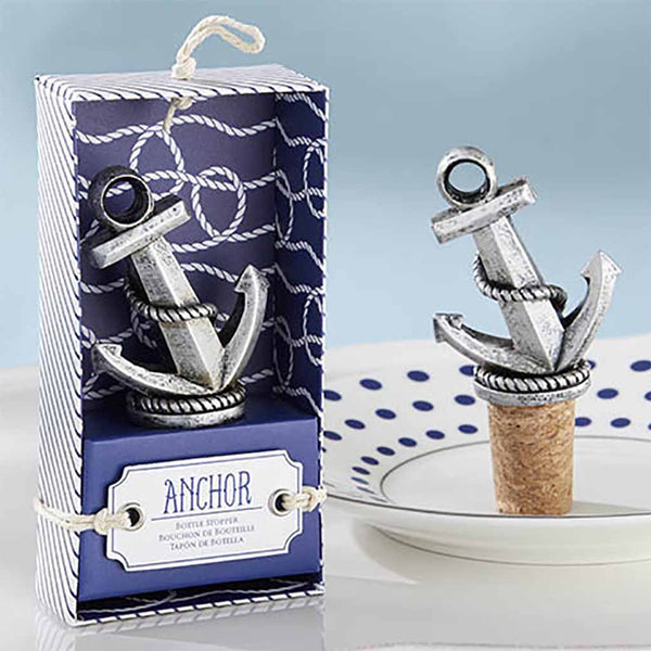 """Nautical"" Anchor Bottle Stopper (Set of 6)"