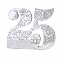 25Th Anniversary Cake Pick-Cake Toppers-Here Comes The Bling™