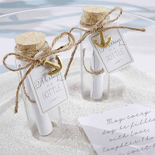 """Message in a Bottle"" Glass Favor Bottle (Set of 24)"