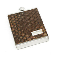 3 oz. Genuine Italian Leather Flask-Flask-Here Comes The Bling™
