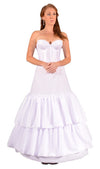 "3 Ring 104"" Hoop Skirt Petticoat with Ruffles-Hoop Skirt-Here Comes The Bling™"