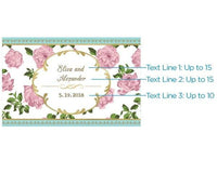 """Tea Time"" Mini Wine Bottle Labels (Set of 48)"