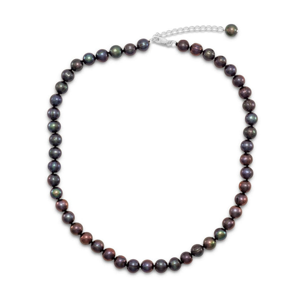 Extension Peacock Cultured Freshwater Pearl Necklace
