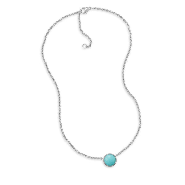 Freeform Faceted Turquoise Necklace
