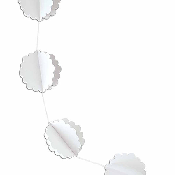 3D White Floral Die-Cut Garland-Decor-Hanging-Here Comes The Bling™