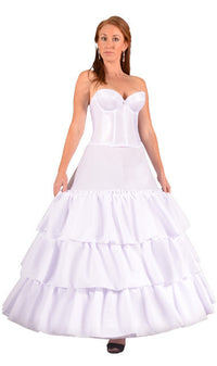 "4 Ring 124"" Hoop Skirt Petticoat with Ruffles-Hoop Skirt-Here Comes The Bling™"