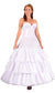 "4 Ring 124"" Hoop Skirt Petticoat with Ruffles"