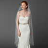 Ballet or Semi Waltz Single Layer Cut Edge Bridal Veil (Available in Ivory or White)