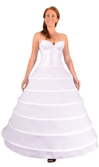 "6 Ring 144"" Hoop Skirt Petticoat-Hoop Skirt-Here Comes The Bling™"
