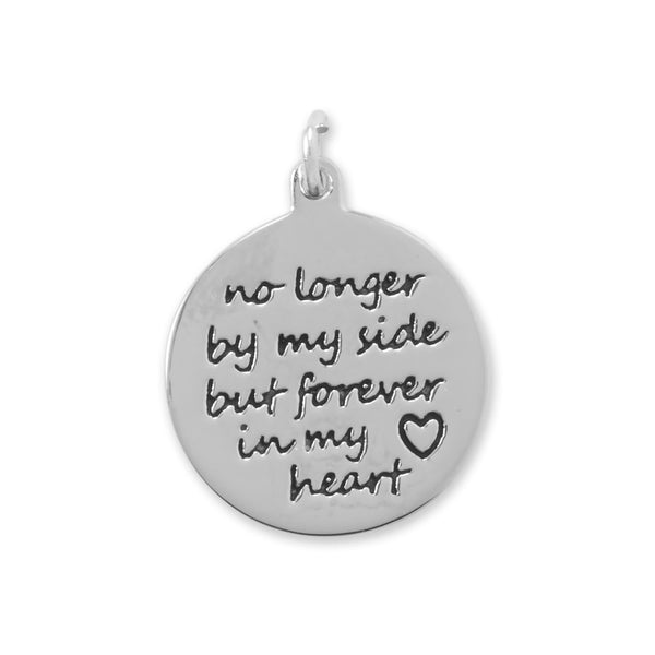 "Oxidized ""Forever in My Heart"" Charm"