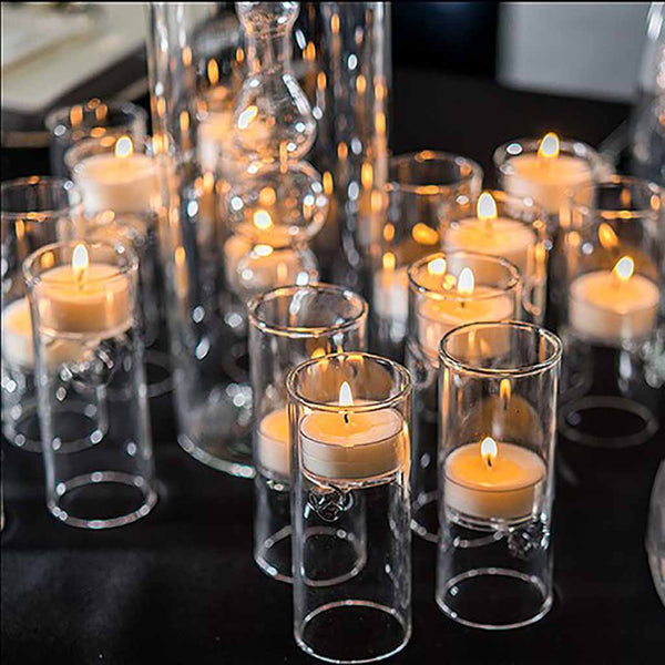 Blown Glass Miniature Tealight Luminaries (Sold in Packs of 4)