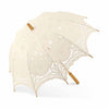 Small Antiqued Battenburg Lace Parasol