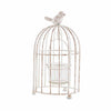Small Metal Birdcage with Suspended Tealight Holder White
