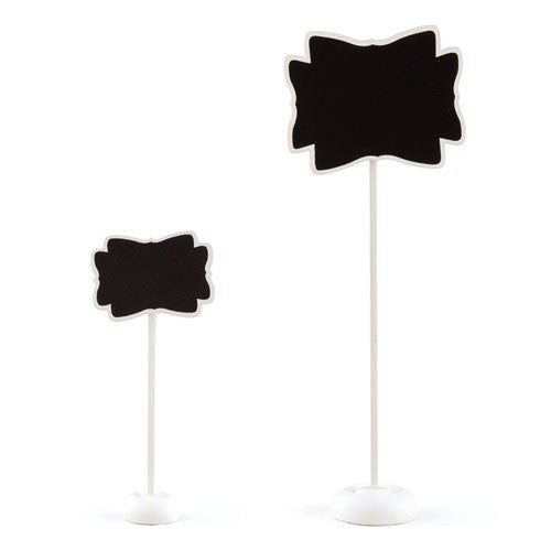 Decorative Chalkboard with Stand - Medium White (Pack of 6)