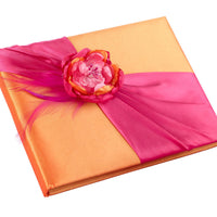 Hot Pink/Orange Guest Book