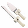 Rhinestones & Bows Ivory Knife & Server Set