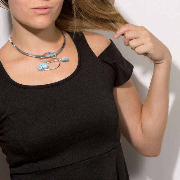 Ornate Larimar Collar