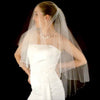 Twinkling Crystal Bead Trimmed Bridal Veil