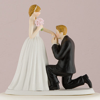 "A ""Cinderella Moment"" Cake Topper with Fair Skin Tone (Available in 7 Hair Colors)-Cake Toppers-Here Comes The Bling™"