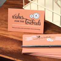 A Wish For The Lovebirds Well Wishing Cards-Stationery-Wish Cards-Here Comes The Bling™