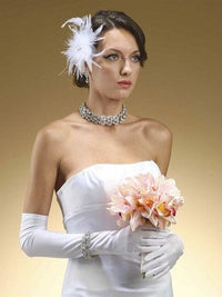 Above the Elbow Bridal or Prom Gloves in Matte or Shiny Satin-Gloves-Here Comes The Bling™
