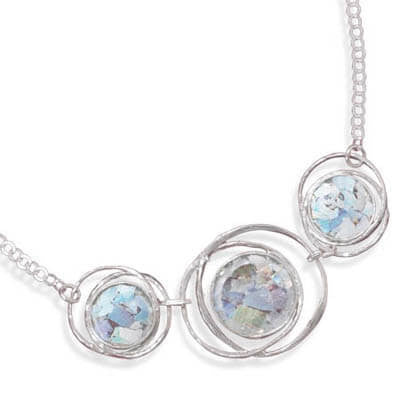 Abstract Circle Roman Glass Necklace-Necklaces-Here Comes The Bling™