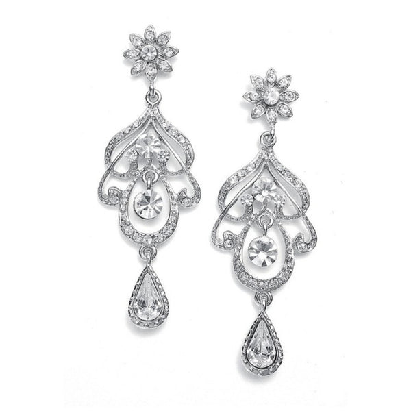 Abstract Wedding Chandelier Earrings-Earrings-Here Comes The Bling™