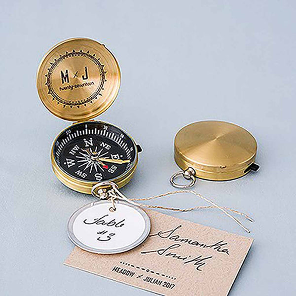 Adventurers Compass Favors Gold (Pack of 6)-Favors-Travel-Here Comes The Bling™