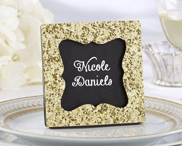 """All that Glitters"" Gold Glitter Frame-Favors-Frames-Here Comes The Bling™"