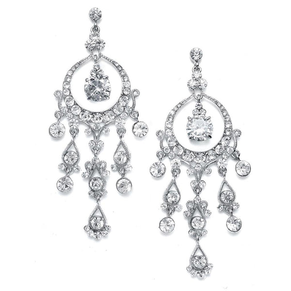 Alluring Austrian Crystal Chandelier Earrings-Earrings-Here Comes The Bling™
