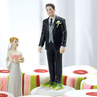 """Almost Perfect . . . Frog Prince"" Groom Cake Topper ( Select From 7 Hair Colors )-Cake Toppers-Here Comes The Bling™"