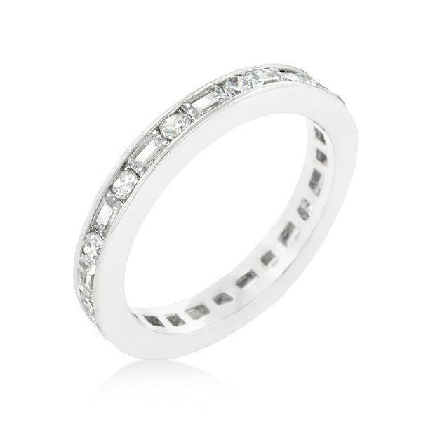Alternating Cubic Zirconia Eternity Band-Rings-Here Comes The Bling