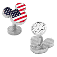 American Flag Mickey Cufflinks-Cufflinks-Here Comes The Bling™