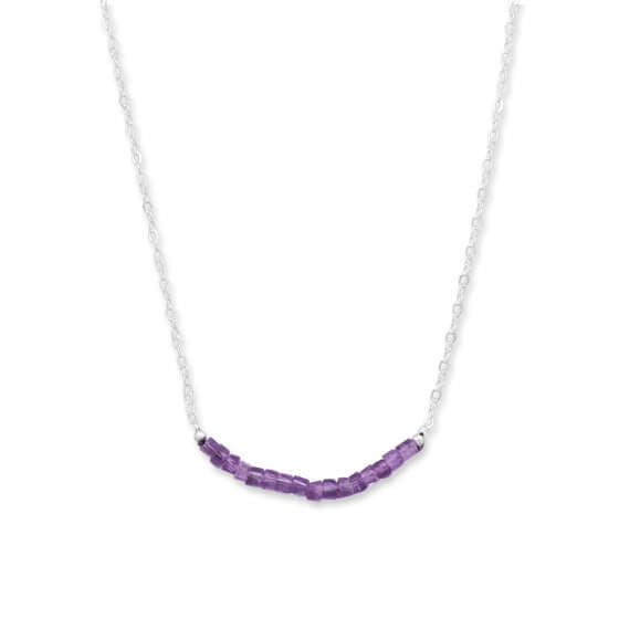 Amethyst Bead Necklace February Birthstone-Necklaces-Here Comes The Bling™