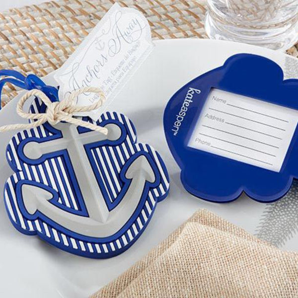 """Anchors Away"" Luggage Tag-Favors-Luggage Tag-Here Comes The Bling™"