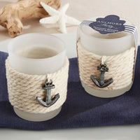 """Anchors Away"" Rope Tealight Holder (Set of 4)-Favors-Candle Holders-Here Comes The Bling™"