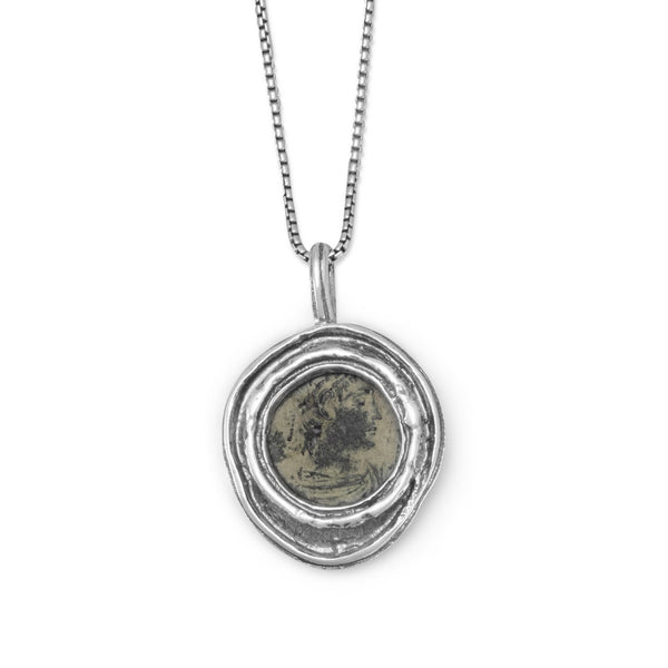 Ancient Roman Coin Necklace-Necklaces-Here Comes The Bling™