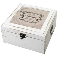 Antique White Card Box-True Love-Card Box-Here Comes The Bling™