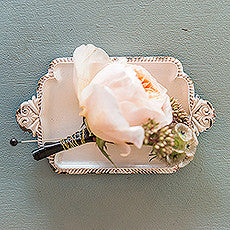 Antique White Miniature Metal Ring Tray White-Decor-Tray-Here Comes The Bling™