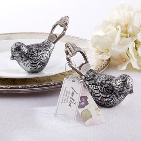 Antiqued Bird Bottle Opener (Set of 4)-Favors-Bottle Opener-Here Comes The Bling™