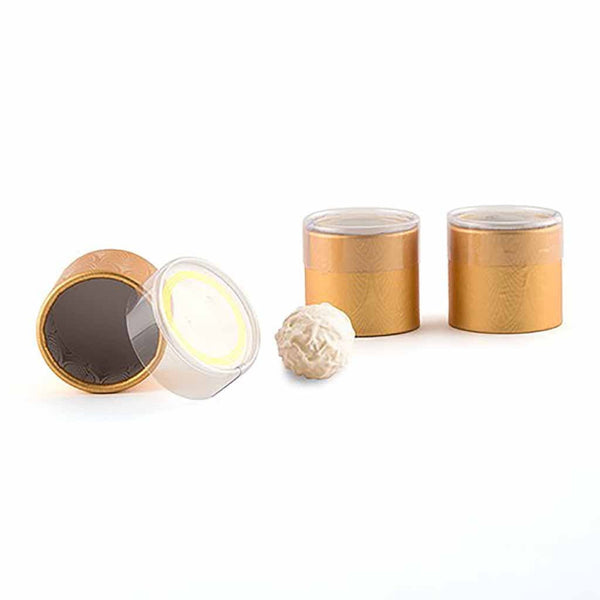 Art Deco Gold Cylinder Boxes With Clear Lid (Pack of 6)-Favors-Boxes-Here Comes The Bling™