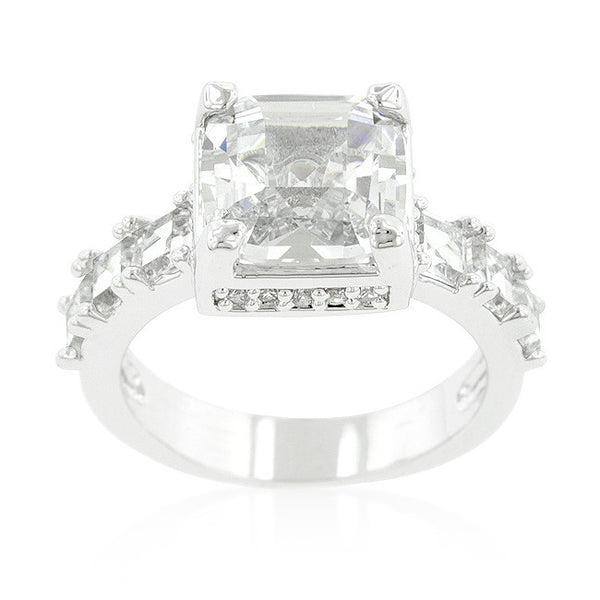 Asscher Cut Engagement Style Ring-Rings-Here Comes The Bling™