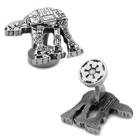 AT-AT Walker Silver Etched Cufflinks-Cufflinks-Here Comes The Bling™