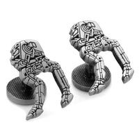 AT-ST Walker Silver Etched Cufflinks-Cufflinks-Here Comes The Bling™