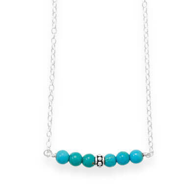 Austin Handmade Dyed Magnesite Bar Necklace-Necklaces-Here Comes The Bling™