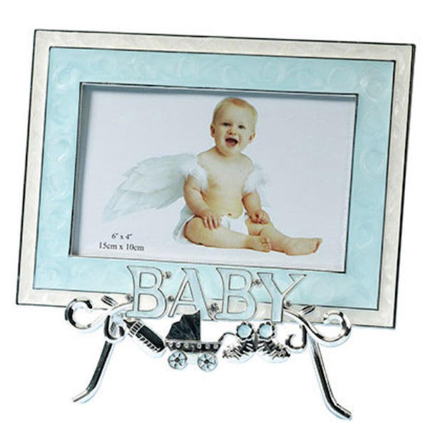 Baby Stand & Frame - Blue-Frames-Here Comes The Bling™