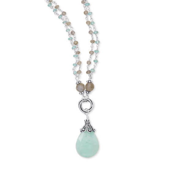 Baila Luna Mint Chocolate Drop Necklace-Necklaces-Here Comes The Bling™