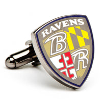 Baltimore Ravens Cufflinks-Cufflinks-Here Comes The Bling™