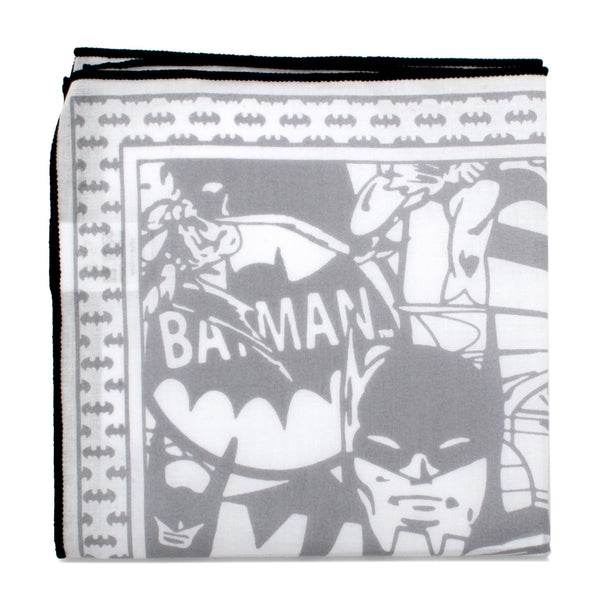 Batman Cotton Pocket Square with Black Trim-Pocket Square-Here Comes The Bling™